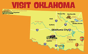 Illustrated Oklahoma Map. Pearson Textbo