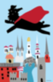 Bridey over the City Poster