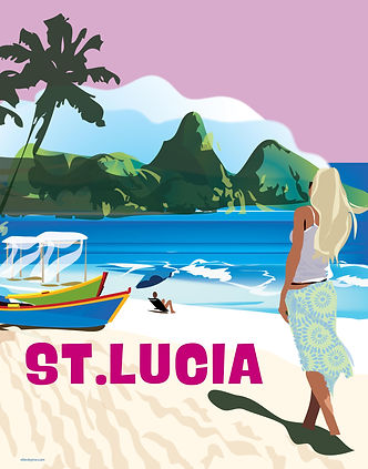 St. Lucia Travel Poster