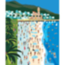 Sitges Beach Poster