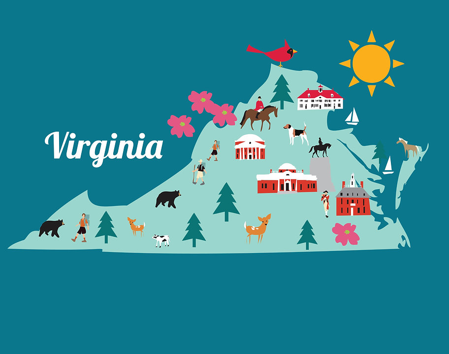 Illustrated Map of Virginia