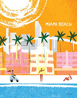 Miami Beach stylised 11 x 14 rgb.jpg