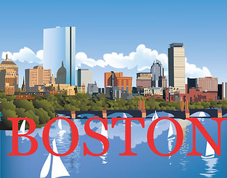 Boston sailboats  Poster
