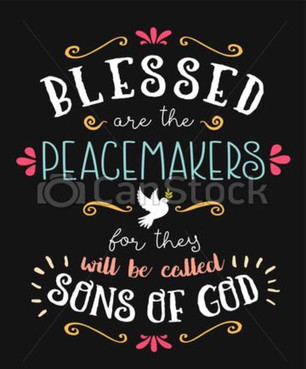 """Matthew 5:9: """"Let there be peace on earth and let it begin with ME!"""""""