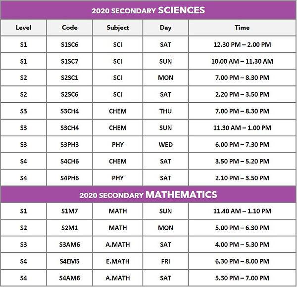 2020 Secondary Schedule_Update 12 Aug.jp