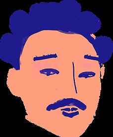 Человек с усами