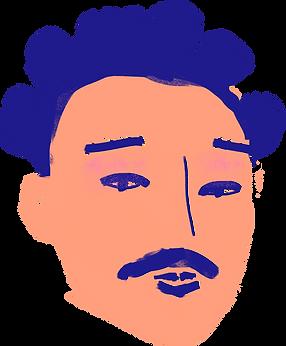 Man med mustasch