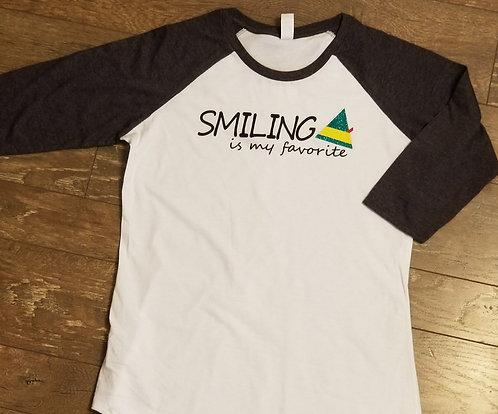 """Smiling"" Elf - Men's 3/4 Sleeve"