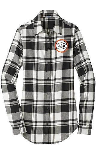 Port Authority® Ladies Plaid Flannel Tunic . LW668