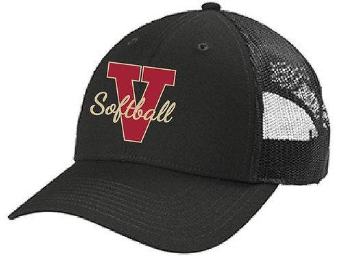 Snapback Trucker Hat-Black