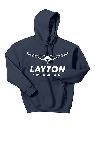 Hoodie with Swimmer Logo