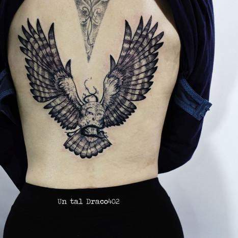 Tatuaje de búho, animales