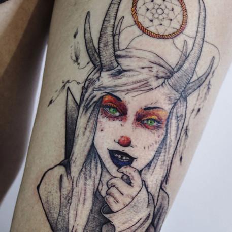 Ilustraciones hechas tatuajes en InkCubo Sevilla