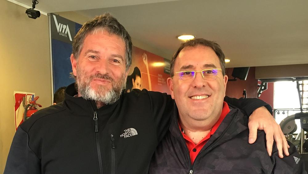 Con mi amigo Pablo Martín (PF de la Primera División de Fútbol del Club Atlético Tigre)