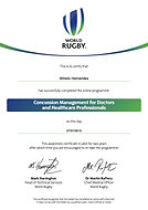 Certificado WR Concussion_Medical_Profes