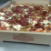 Pastrami, Sausage, Mushroom Pizza