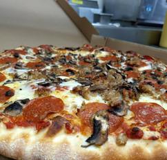 Thin-Crust Pepperoni Mushroom Pizza