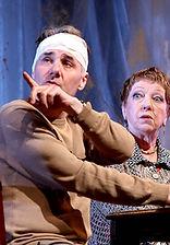 Андрей Рапопорт и Ольга Волкова. Фотография спектакля«Семейный ужин в половине второго»