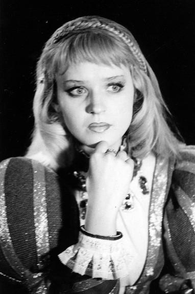 Елена Сотникова. Фотография спектакля «Мария Тюдор», 1985 год