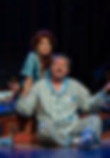 Андрей Ильин и Ольга Кабо в спектакле «Карнавальная ночь» (венецианская комедия), фото Лизы Бузовой