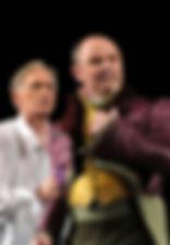 Михаил Васьков и Василий Лановой. Фотография спектакля «Фредерик, или Бульвар преступлений»