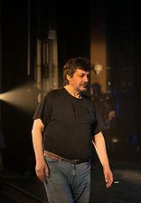 Михаил Цитриняк на репетиции спектакля «Онегин-блюз», фото: Елизавета Бузова