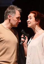 Андрей Рапопорт и Анна Большова. Фотография спектакля«Семейный ужин в половине второго»