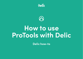 How to use ProTools with Delic