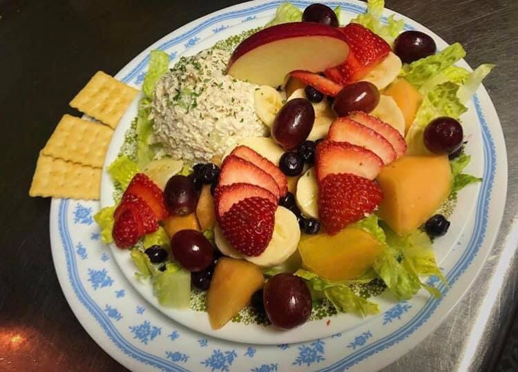 Chicken Salad & Fresh Fruit Platter