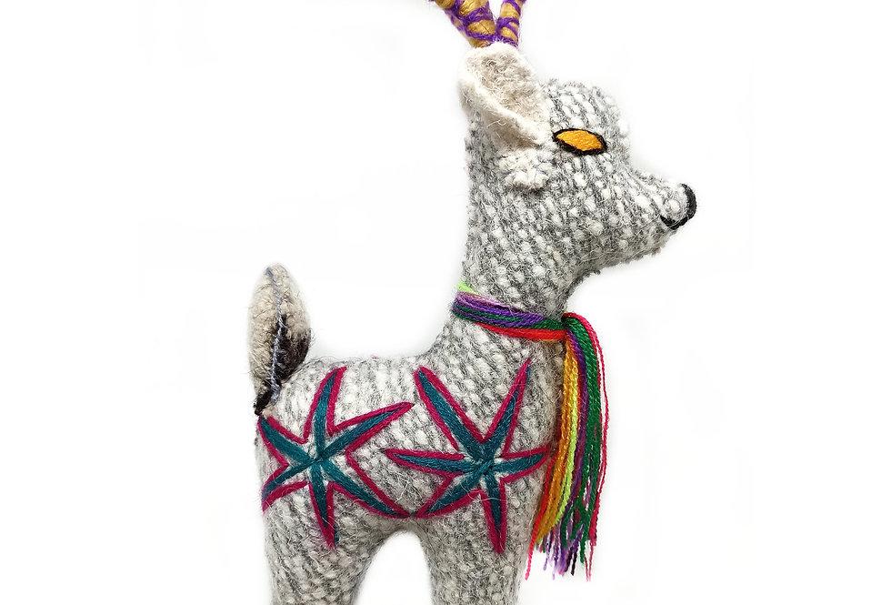 Handmade Chiapas Wool Small Deer