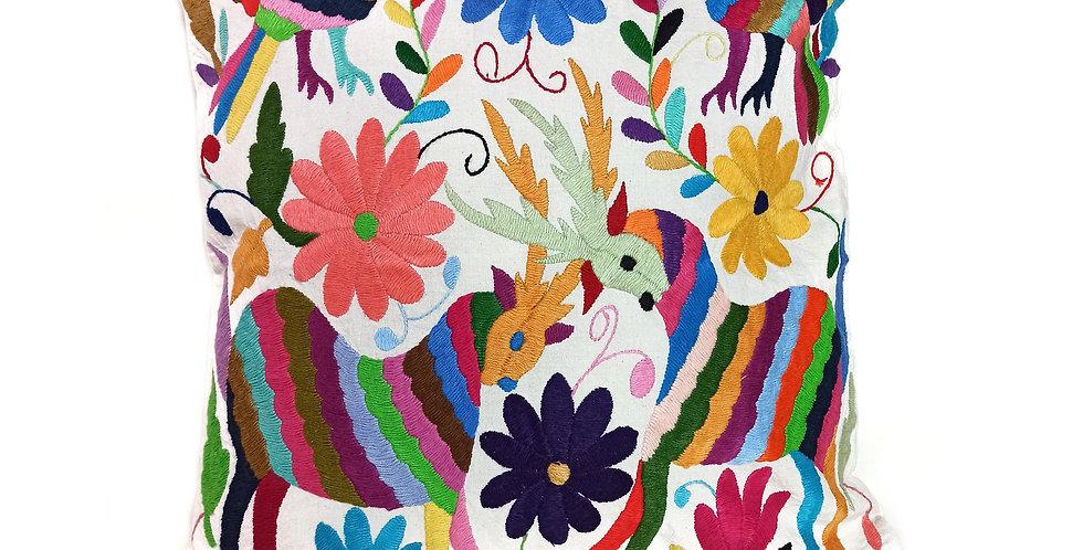 Handmade Embroidered Hidalgo Cushion Cover 45x45cm