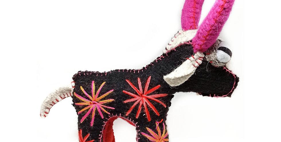 Handmade Chiapas Wool Bull