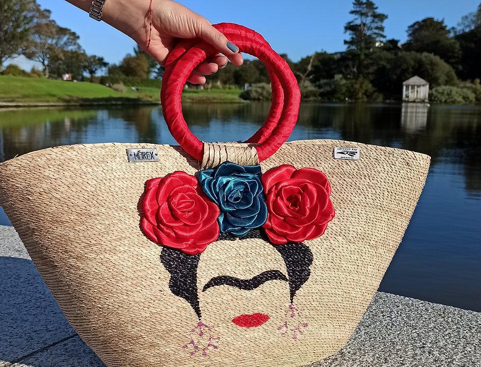 Frida wicker handbag
