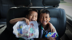 Ramassage scolaire en sourires