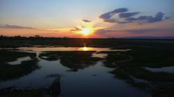 Coucher de soleil de Banteay Chmar