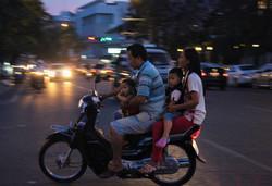 Dans le rush de Phnom Penh