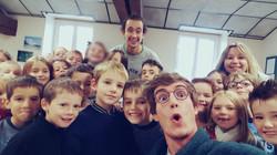 Selfie avec nos loulous !
