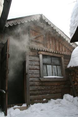 Старинная русская баня по-черному