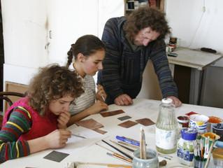 Новогодний мастер-класс по художественной эмали Михаила Селищева