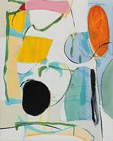 Taino painting no. 3, 20 x 16 oil on pan