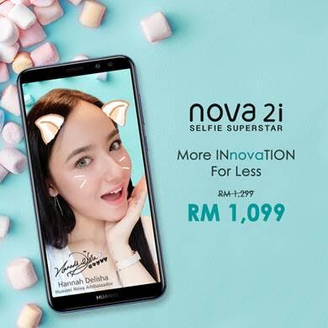 HUAWEI nova 2i IS NOW PRICED AT AN IRRESISTIBLE DEAL OF RM1,099