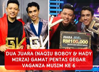 'Mereka berdua sama bagus..layak Menjadi Juara...' KataDatuk Ramli MS, Naqiu Boboy & Hady Mirza