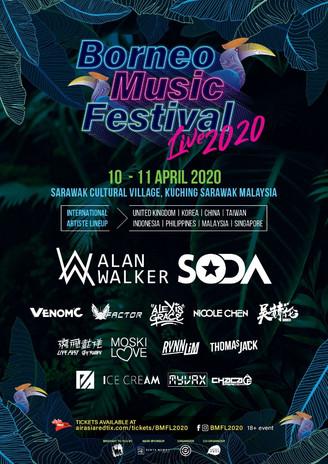BAHANG ALAN WALKER, TIKET AWAL BORNEO MUSIC FESTIVAL LIVE 2020 HABIS DIJUAL!