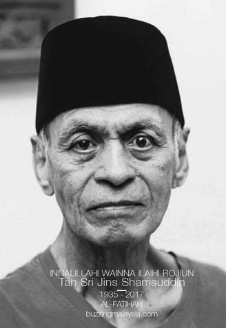 Tan Sri Jins Shamsuddin Meninggal Dunia