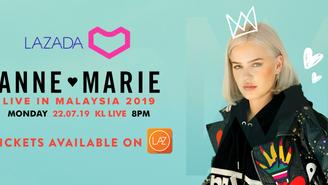 LAZADA MALAYSIA AND WARNER MUSIC MALAYSIA PRESENT ANNE-MARIE LIVE IN MALAYSIA 2019!