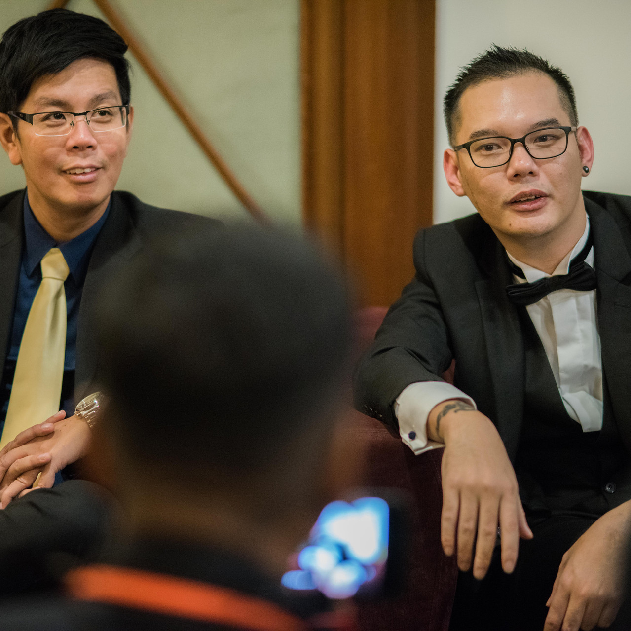 C144 producer Aaron Lim (right) and dire