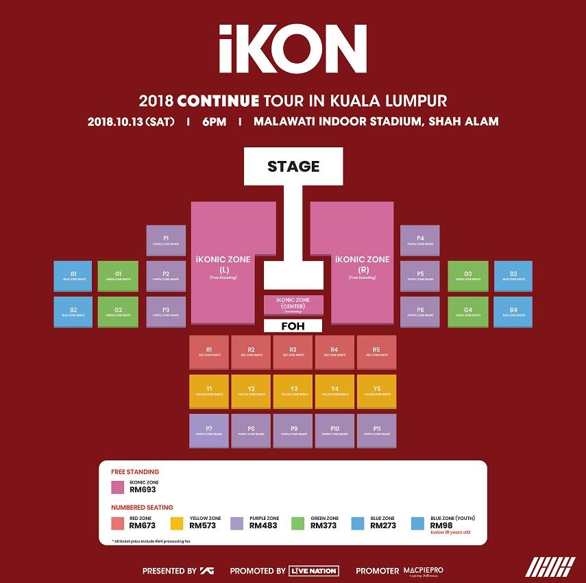 iKON seating plan