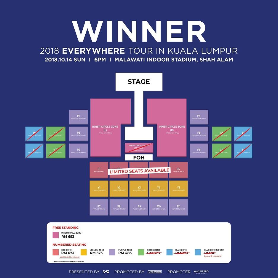 WINNER Seating Plan