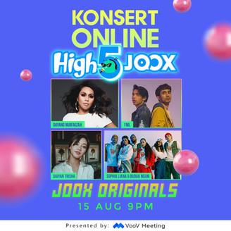 ARTIS-ARTIS POPULAR MALAYSIA MERIAHKAN KONSERT ONLINE HIGH5JOOX