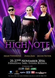 Konsert High Note 2016: Pertemukan Azlan, Ziana Zain dan Jaclyn Victor